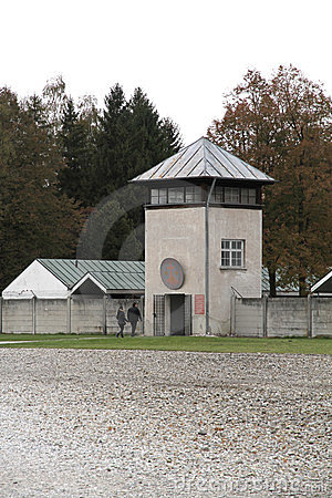 Watchtower in the Dachau Concentration camp Editorial Photography