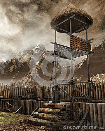 Free Watchtower In An Old Settlement Royalty Free Stock Photos - 43356408