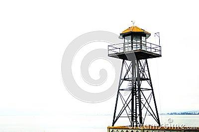 Watchtower by ocean