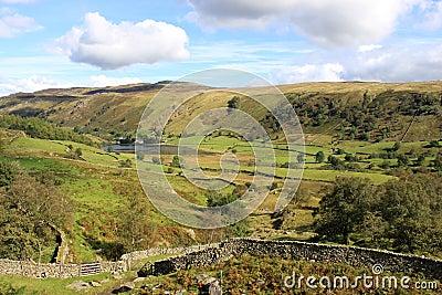 Watendlath from path to Dock Tarn, Lake District