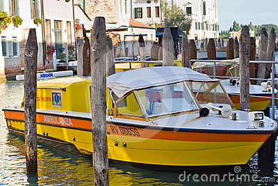 Water ambulance in Venice, Editorial Stock Photo