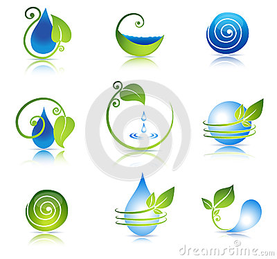 Free Water And Leaf Symbols Stock Image - 31609061
