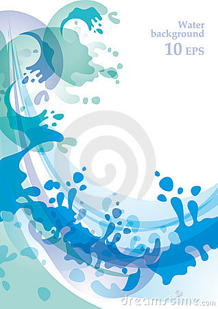 Water background 10 EPS