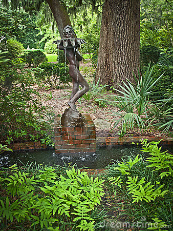Water Bearer in Garden