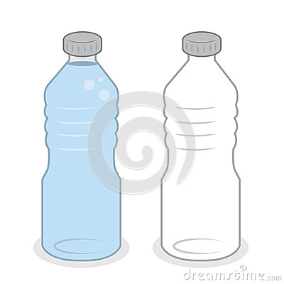 Water Bottle Empty Full Stock Vector Image 54735296