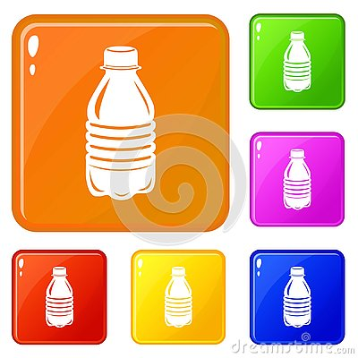 Free Water Bottle Icons Set Vector Color Stock Photo - 141392010