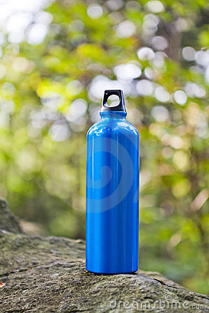 Free Water Bottle In Green Forest Royalty Free Stock Photos - 21987458