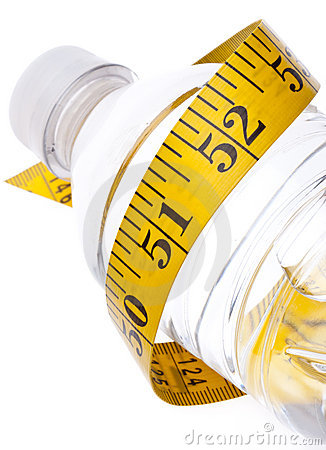 Water Bottle with Measuring Tape Healthy Lifestyle
