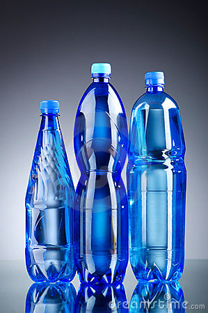 Water bottles - healthy drink concept