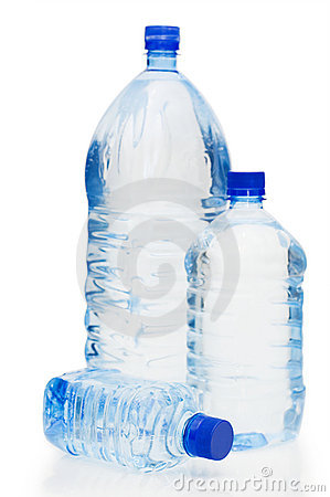Free Water Bottles Isolated On The White Background Royalty Free Stock Images - 13539199