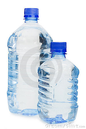 Free Water Bottles Isolated Over White Stock Image - 13539181
