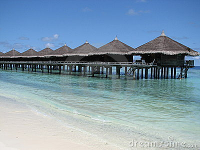 Water bungalows - the Maldives