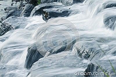 Water cascade in a rock