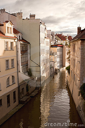 Water channel in Prague