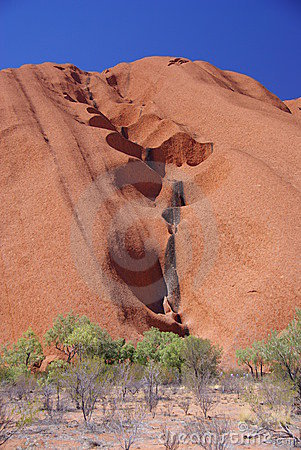 Free Water Channels On Uluru Surface Stock Photos - 6695203