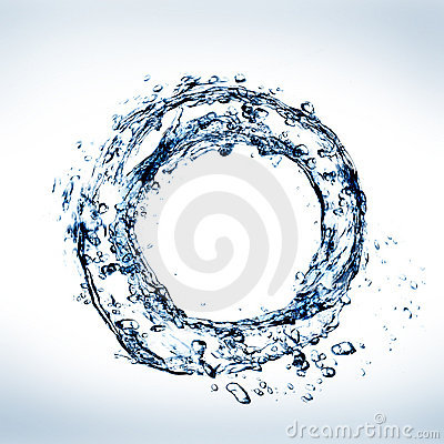 Water in circle