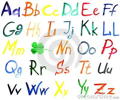Water color alphabet
