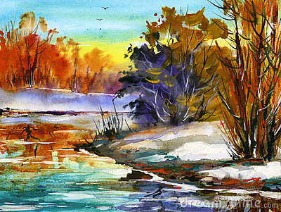 Water colour landscape