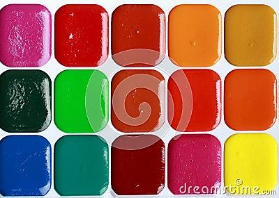 Water colour paints