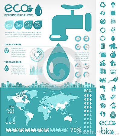 Free Water Conservation Infographic Template Royalty Free Stock Photos - 34589558