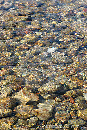 Water creek rocky bed