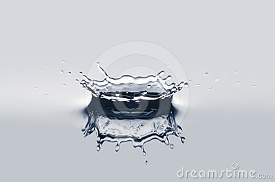 Water crown isolated
