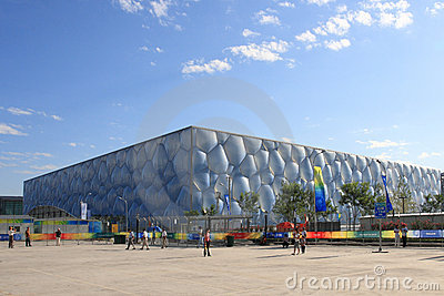 The Water Cube(National Aquatics Centre) Editorial Photo