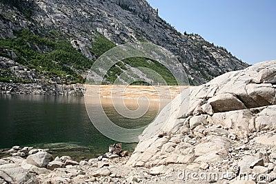 Water dam background