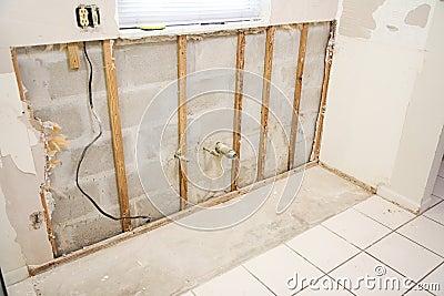 Water Damage in Kitchen