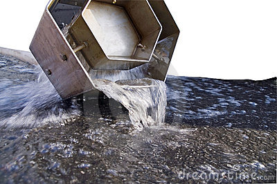 Water draining from pipe