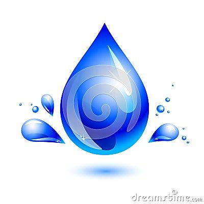 Water drop. aqua