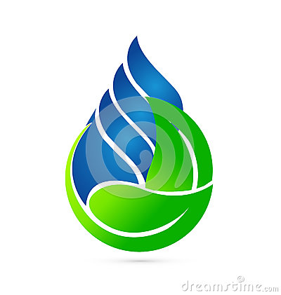 Free Water Drop Ecology Concept Logo Stock Image - 41064241