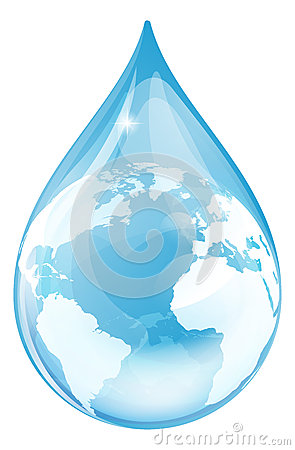 Free Water Drop Globe Stock Images - 42208064