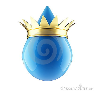 Water drop gold crown