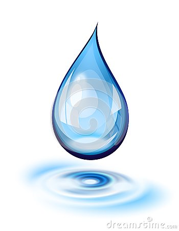 Free Water Drop Icon Stock Photo - 34958390