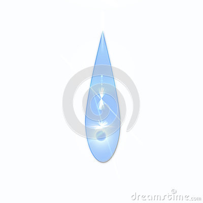 Water drop isolate with white