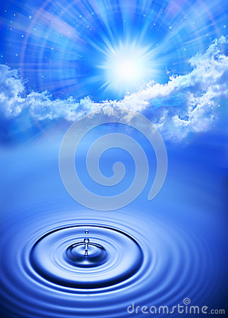 Free Water Drop Sky Sun Time Background Stock Images - 32523304