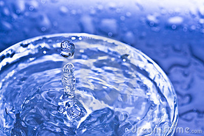 Water drop. Soft colors.