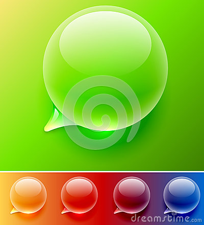 Water drop speech balloon