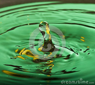 Water drop splash