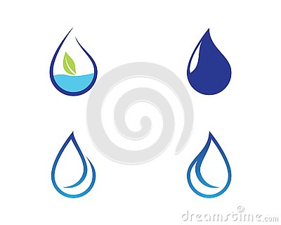Water drop symbol illustration Vector Illustration