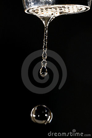 Water drop and tap