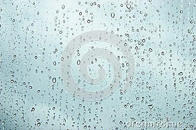 Water droplets on window