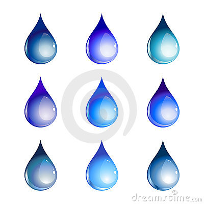 Free Water Drops Royalty Free Stock Image - 8491656