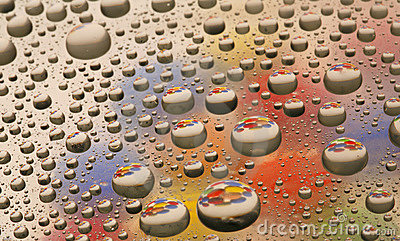 Water Drops with color