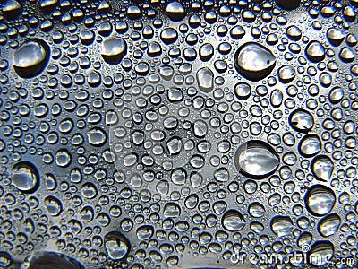 Water drops metalic