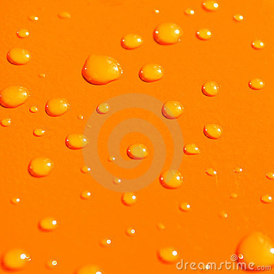 Free Water Drops On Orange Metal Ba Stock Photo - 3328550
