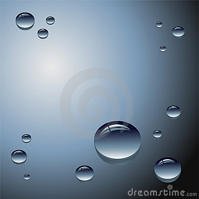 Water drops - Vector illustration