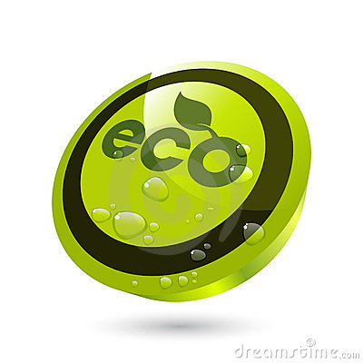 Water on eco button