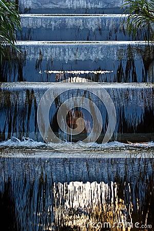Water fall in garden.